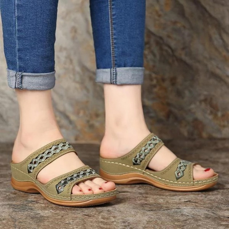Summer Women Slippers Gladiator Casual Shoes Wedges Platform Beach Mules Ladies Slides Sandals Flip Flops Zapatos De Mujer