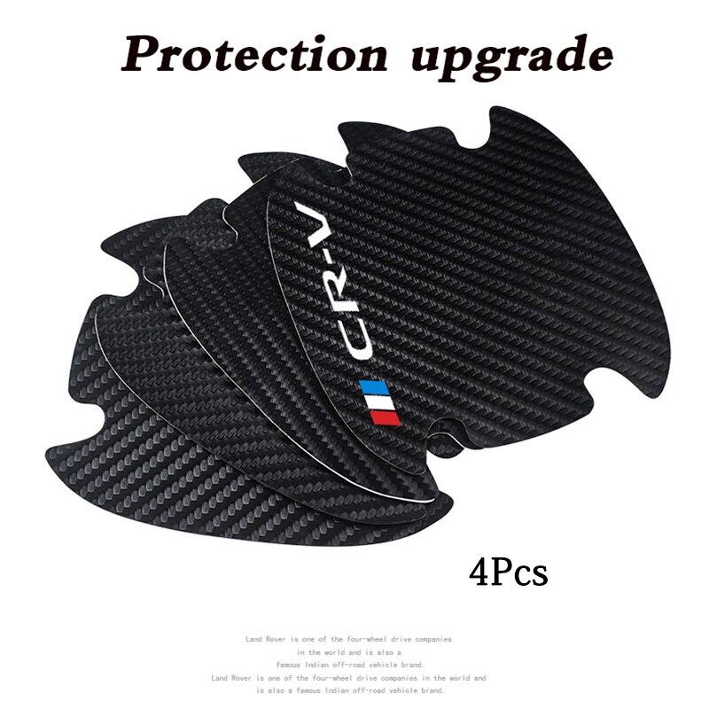 Купить 4 шт наклейки из углеродного волокна для защиты от царапин на