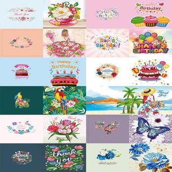 5D DIY Diamond Painting Greeting Card Special-shaped Birthday Festival Santa Claus Xmas Postcards Craft Gift s Christmas