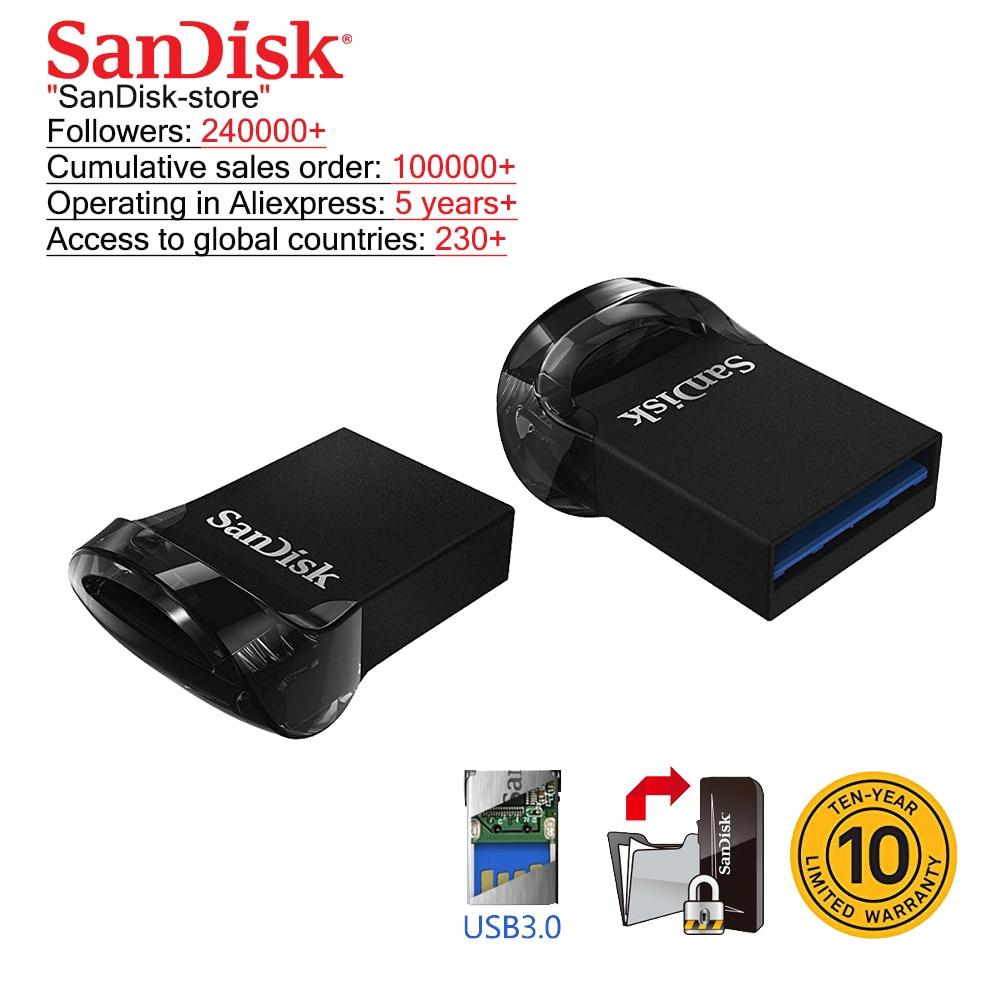 SanDisk USB 3.0 USB Flash Drive 256GB 128GB 64GB 32GB 16GB Pen Drive Pendrive Flashdisk U Disk
