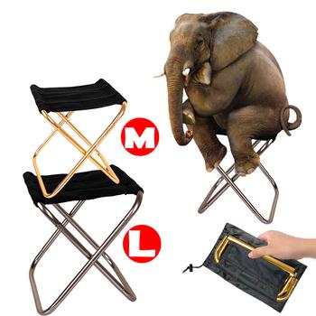Składane krzesło wędkarza lekkie piknikowe krzesło kempingowe składane aluminiowe tkaniny zewnętrzne przenośne łatwe do przenoszenia meble ogrodowe tanie i dobre opinie Metal SKŁADANE KRZESŁO L 30*25*32cm M 24*21*29cm Plaża krzesło JJ-0022 Nowoczesne M 300g L 400g 100kg Gray Gold Fishing Camping Picnic