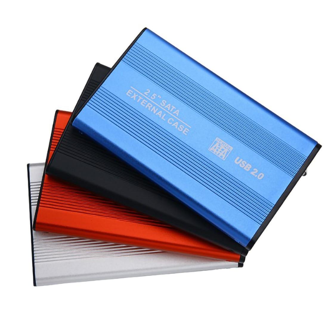 Алюминиевый сплав 2,5 дюймов внешний защитный корпус мобильный корпус для жесткого диска чехол USB 2,0 на SATA внешний карман для жесткого диска