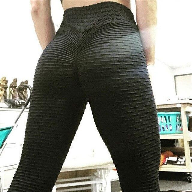 CHRLEISURE Woman Push Up Leggings Women Fitness Pants High Waist Sport Leggings Anti Cellulite Leggings Workout Black Ladies 2