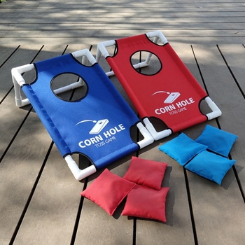 Foldable Portable Sandbags Game Set Toss Cornhole Game Board Set Indoor Outdoor Chipping Pitching Cages Mats Parent-Kids Game