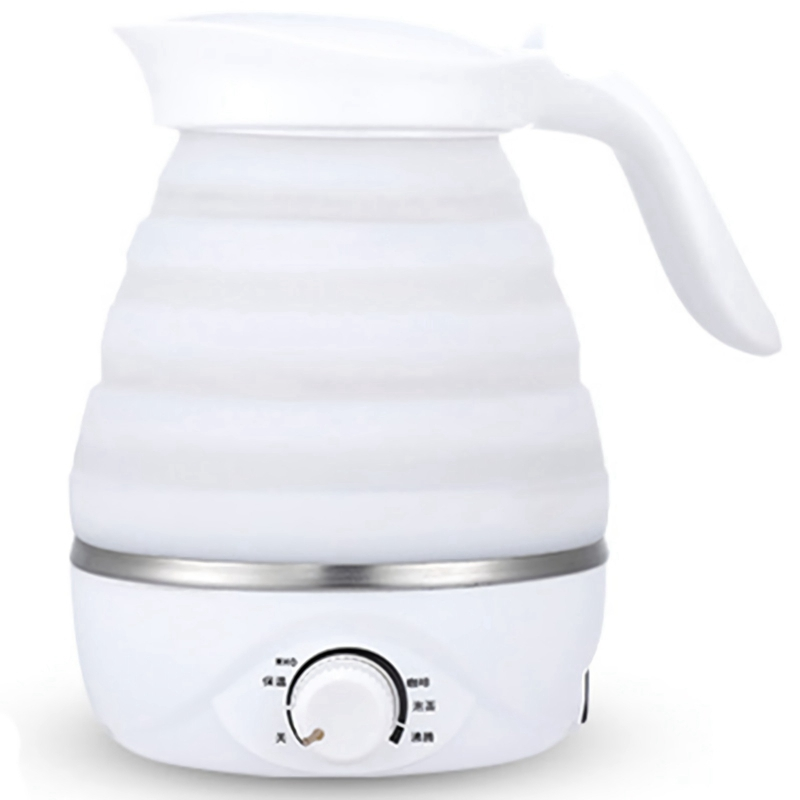 Foldable Electric Kettle Durable Silicone Compact Size 850W Travel Camping Water Boiler Electric Appliances Eu Plug