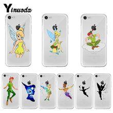 Funda de teléfono con estampado de Tinkerbell Yinuoda Peter Pan para iPhone 8, 7, 6, 6S Plus X XS max 10 5 5S SE XR Coque Shell