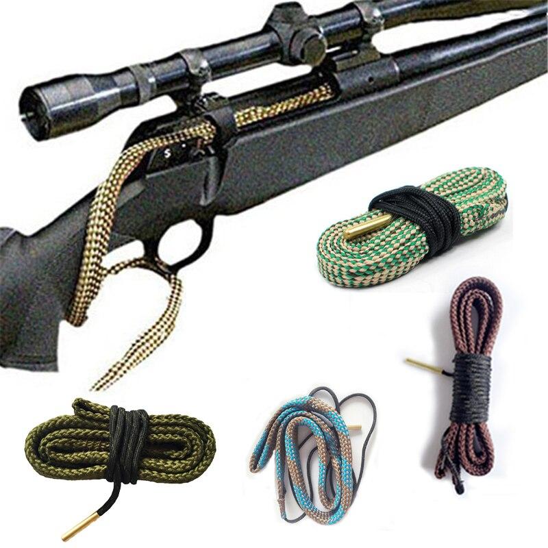 헌팅 건 보어 클리너 Snake.22 Cal.223 Cal.38 Cal & 5.56mm, 7.62mm, 12GA 라이플 클리닝 키트 툴 라이플 배럴 캘리버 스네이크 로프