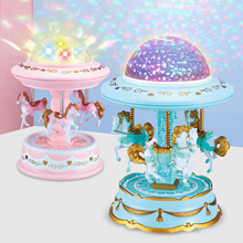 Projector Carousel-Style Music-Box Gifts Girls Child Cute for Valentine-Day Birthday