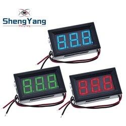 0.56 Inch Mini Red Green Blue LED Display Panel Voltage Meter Voltmeter Home Use Voltage 3 Three Digital DC 4.5V 30V 2 / 3 Wires