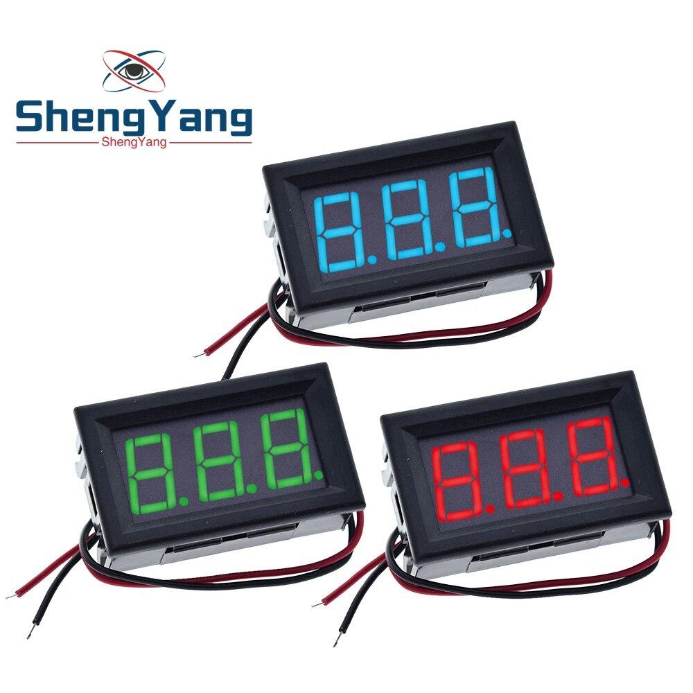 0.56 pollici Mini rosso verde blu LED Display pannello voltmetro voltmetro uso domestico tensione 3 tre Digital DC 4.5V 30V 2/3 fili|Circuiti integrati|   -