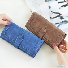 2019 Fashion Long Purse Clutch Women Retro Matte Stitching Leather Wallet Women Casual Hasp Dollar Price Wallet Handbag Carteira цена в Москве и Питере