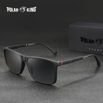 Polarking mężczyźni Vintage Mix materiał spolaryzowane okulary klasyczne marki okulary powłoka soczewki jazdy okulary dla mężczyzn kobiet 483 tanie i dobre opinie POLAR KING CN (pochodzenie) Rectangle Dla osób dorosłych Z tworzywa sztucznego polaryzacyjne UV400 43mm Z poliwęglanu