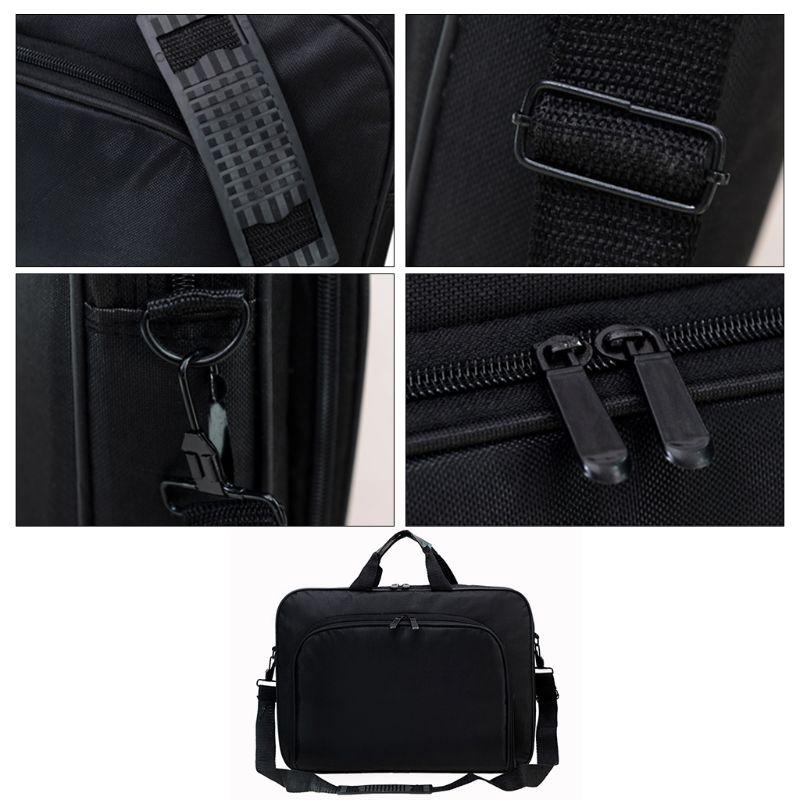 Briefcase Bag 15.6 Inch Laptop Messenger Bag Black Business Office Bag Computer Handbags Simple Shoulder Bag for Men Women 5