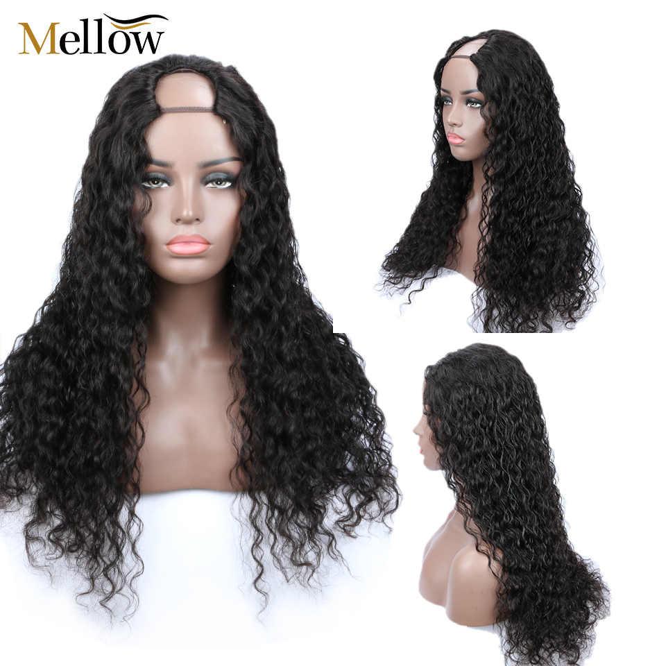 Pelucas Mellow Jerry pelucas rizadas pelo humano brasileño Bob pelucas frontales de encaje Pre desplumadas con cierre de Ftontal de encaje para bebé peluca