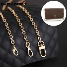 BAMADER łańcuszek pasy wysokiej klasy kobieta torba metalowy łańcuszek modne torby akcesoria DIY pasek torby wymiana luksusowy markowy łańcuszek paski tanie tanio CN (pochodzenie) 0 1KG ss062 Łańcuch Copper 100CM 0 7CM 4 styles Gold Silver Chain