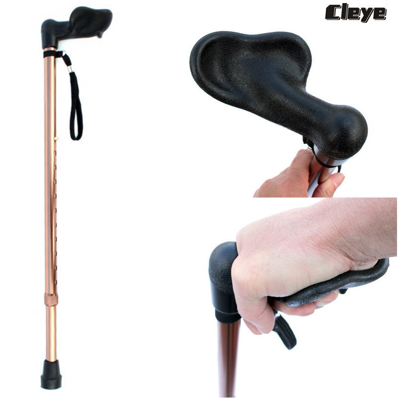 Aluminum Alloy Walking Stick Old Man Single Foot Walking Stick Horizontal Wand Collapsible Anti-slip Wand Alpenstock Manufacture
