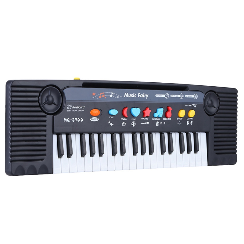 ABUO-37 Keys Multifunctional Mini Electronic Keyboard Piano Music Toy With Microphone Educational Electone Gift For Children Bab