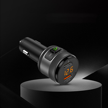 Handsfree Wireless Bluetooth MP3 FM 4.2 Transmitter Car Mp3 Player Car Charger Dual USB QC3.0 Fast Charger Support U Disk 64G new handsfree wireless bluetooth car kit fm transmitter radio support u disk mp3 player phone app control car charger aux out