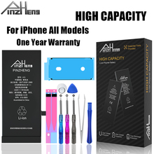 PINZHENG High Capacity Battery For iPhone 6 6S 7 8 Plus X XR XS Max Replacement Bateria For iPhone 5 5S 5C SE 4S 0 Cycle Battery pinzheng high capacity phone battery for iphone 6s 6 7 8 plus x replacement battery for iphone 5 5s 5c se xr xs max batterie