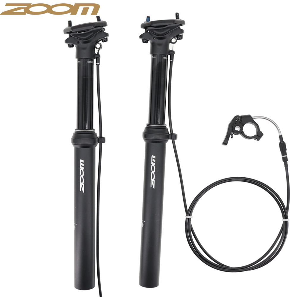 375MM 100MM External Routing Dropper Post Seatpost Adjustable Bike 30.9//31.6mm