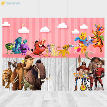 Buy Sunsfun Bear/Elephant Cartoon Birthday Party Photography Backdrops Animals Boy Birthday Party Banner Background Photography directly from merchant!