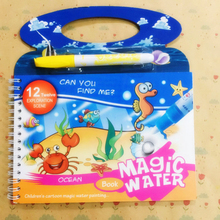 Magic Water Drawing Reusable Book Coloring Books Doodle Pen Cartoon Painting Toys Board For Children Puzzle Gift