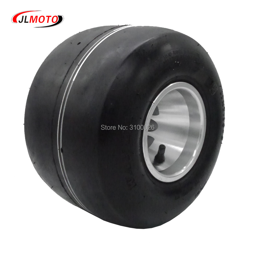 11x7.10-5 5 Inch Racing  Rear Wheel Tire With Alloy Aluminium Rim Fit For 168 Go Kart Buggy DIY ATV Quad Scooter Bike Parts