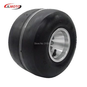 11×7.10-5 5 Inch Racing  Rear Wheel Tire with Alloy Aluminium Rim Fit For 168 Go Kart Buggy DIY ATV Quad Scooter Bike Parts