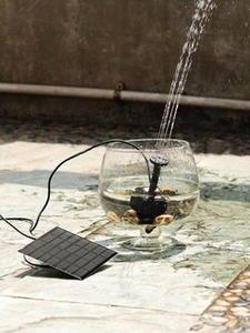 Waterfalls Water-Fountain-Pump Solar-Panel Outdoor-Decoration Bath-Fish Pond Garden