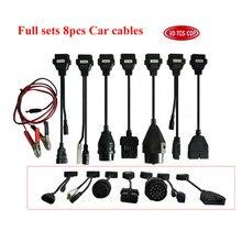 8 pièces par ensemble de câble de voiture pour delphis vd pro plus et multidiag pro + et scanner de voiture