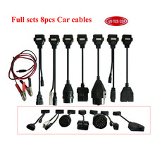 full 8 pcs per set car cable for delphis vd  pro plus and multidiag pro+ and car scanner