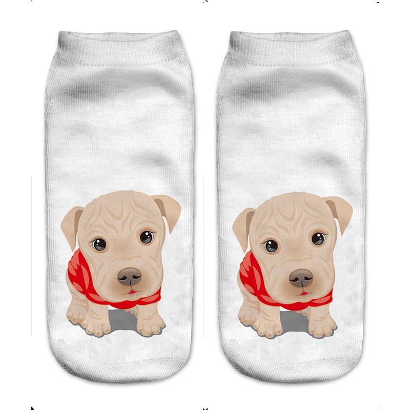 2018, женские носки с 3D принтом, брендовый носок, модные, унисекс, рождественские носки, собака, кошка, рыба, женские забавные короткие носки