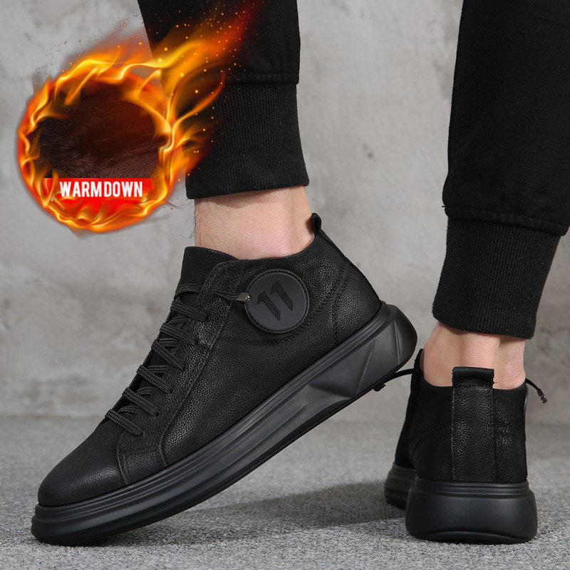 OSCO 2019 Men Boots Winter Military Black Boots Men Shoes  Lace-Up Round Toe High Quality Size