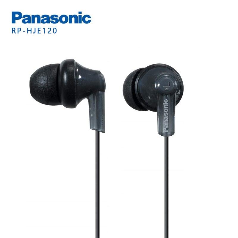 Original panasonic RP-HJE120 fones de ouvido fones de ouvido fones de ouvido música 3.5mm para huawei samsung xiaomi telefone móvel