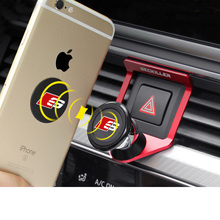 Lsrtw2017 Aluminum Alloy Car Dashboard Cellphone Holder for Audi A4 A5 Interior Accessories