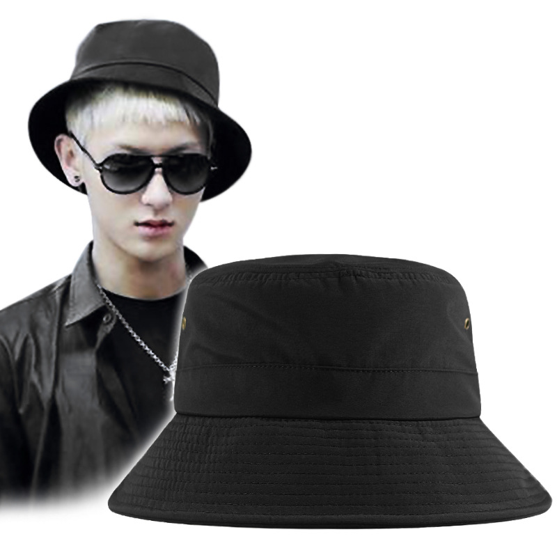 Quick-Drying Big Head Circumference Fisherman Men's Hat plus Size Hat Wind Proof Rope Sun Hat Wholesale 11.2