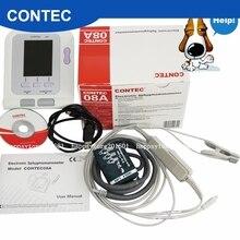 CONTEC 08A-VET цифровой монитор артериального давления, ветеринарный/Животный NIBP+ SPO2 зонд