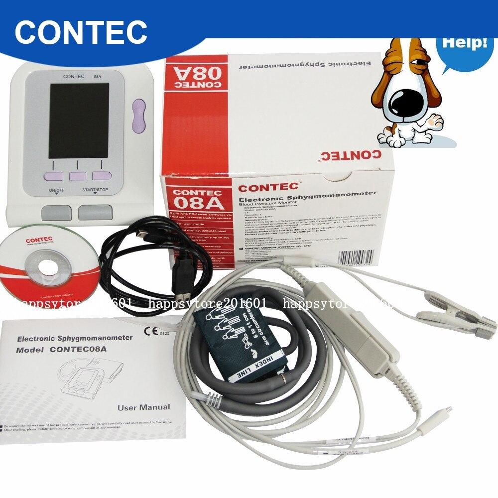 Monitor de pressão arterial digital contec 08a-vet, veterinário/animal nibp + sonda spo2
