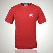 Для Skoda логотип футболка с буквенным принтом модные футболки с круглым вырезом футболка с коротким рукавом a