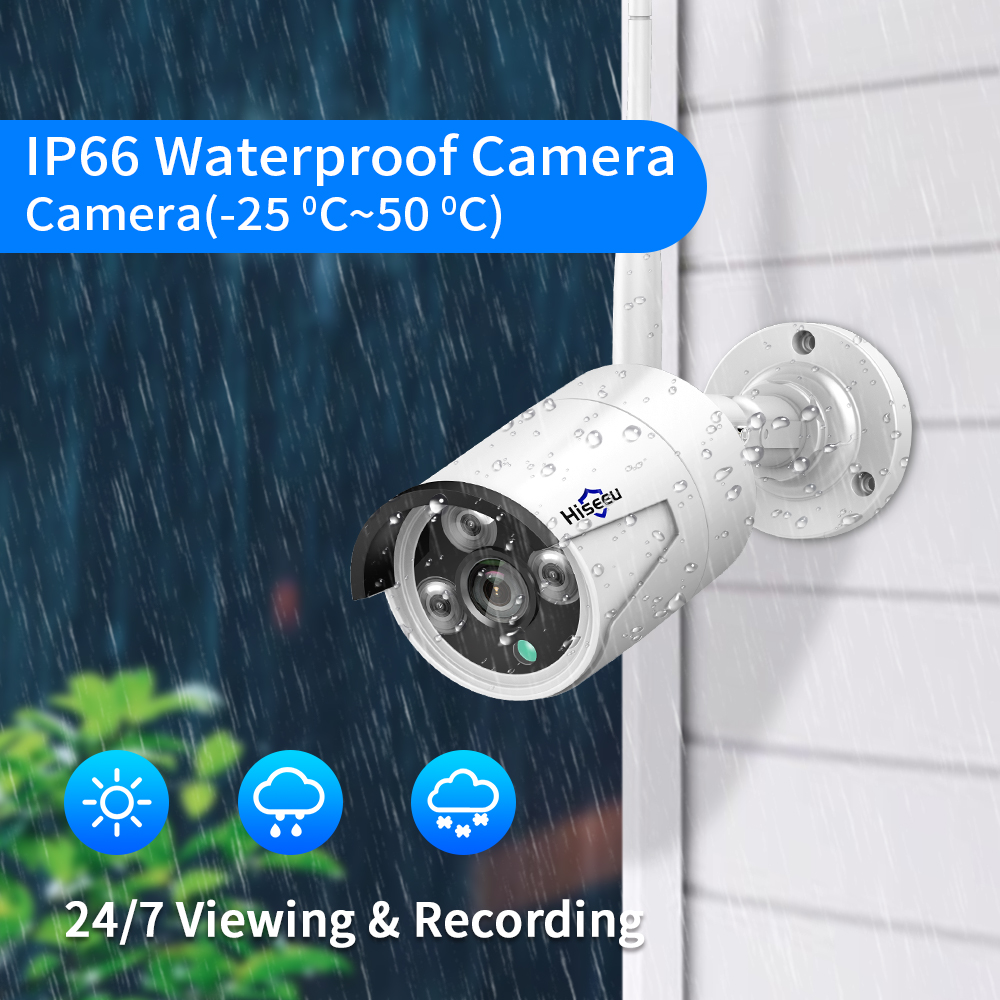 lowest price MISECU 8CH NVR 3MP CCTV Wireless System Audio Record Outdoor Waterproof P2P Wifi Security Ai Camera Set Video Surveillance Kit