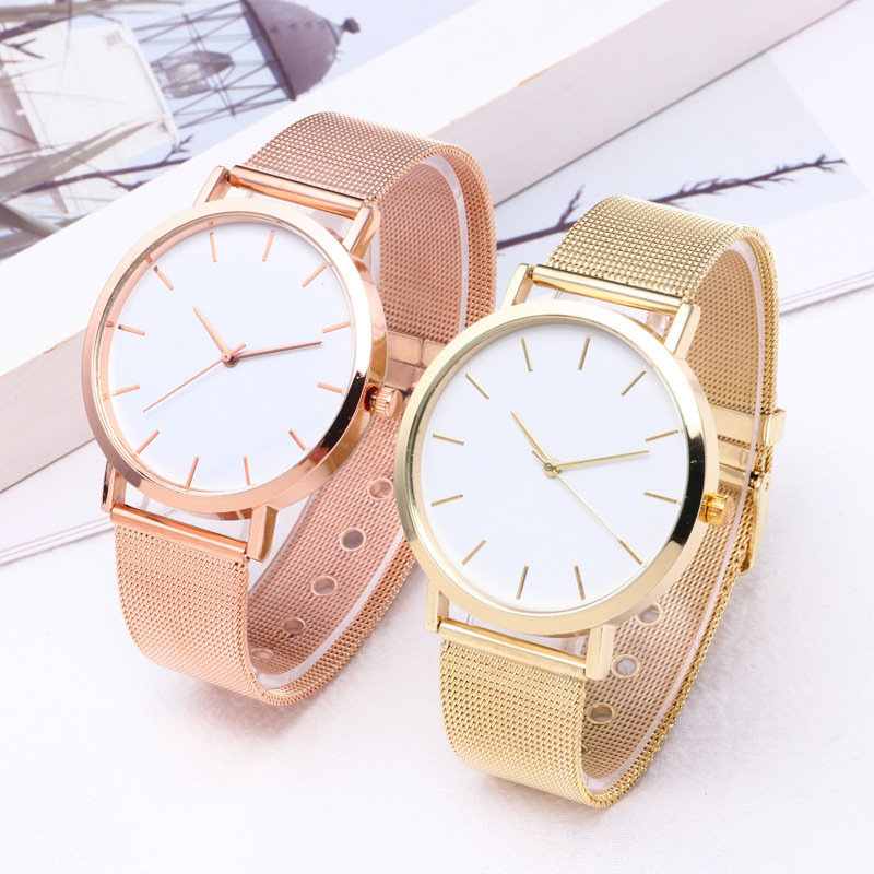 2019Fashion Women Watches Personality Romantic Rose Gold Strap Watch Women's Wrist Watch Ladies Clock Reloj Mujer Zegarek Damski