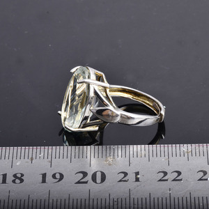 Image 4 - CSJ Big stone 13ct Anello di ametista verde ovale cut 13*18 anello in argento sterling 925 naturale della pietra preziosa gioielli per contenitore di regalo delle donne della ragazza