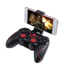 חם T3 X3 אלחוטי Bluetooth 3.0 משחקי Gamepad בקר ג ויסטיק עבור אנדרואיד Smartphone חכם טלוויזיה Gamepads עם סוגר בעל