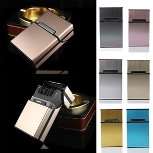 Smoking Accessories Men Lady Gift Cigarette Storage Container Case Aluminium Alloy Tobacco Holder Pocket Box Magnetic Button(China)