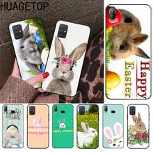 Happy Easter Bunn Kelinci Hitam Cell Phone Case untuk Samsung Galaxy A21S A01 A11 A31 A81 A10 A20 A30 A40 a50 A70 A80 A71 A51(China)