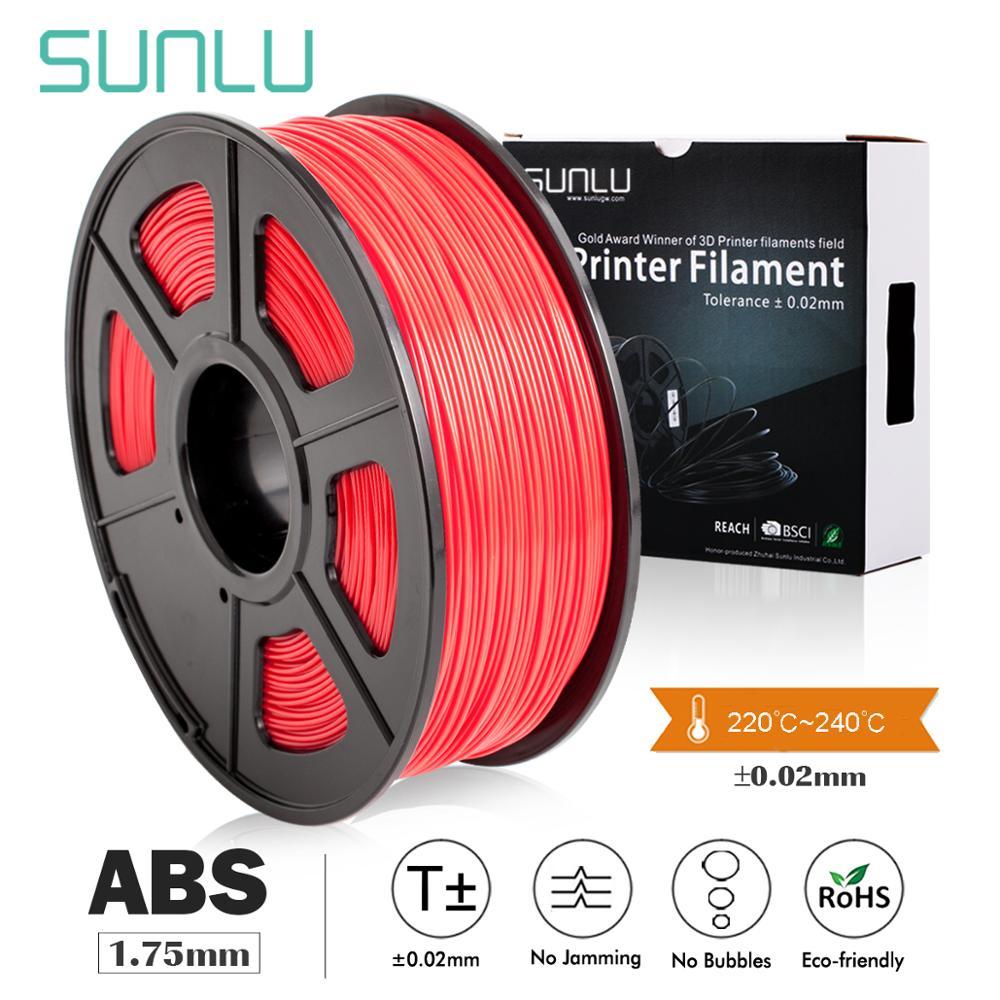 SUNLU ABS 3D Printer Filament 1.75mm Extruded Children Scibble 3D Pen Tools ABS Filament For Printer 1KG/2.2LBS With Spool