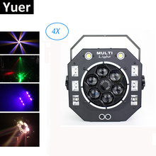Laser Projector LED Party Light Beam UV Strobe Light DMX512 Control Dj For Disco Light Dj Stage Lighting Effect Laser Beam Light 2pcs lot high brightness king kong strobe 8p 200w led strobe dmx512 sound control party disco dj bar light show projector strobe