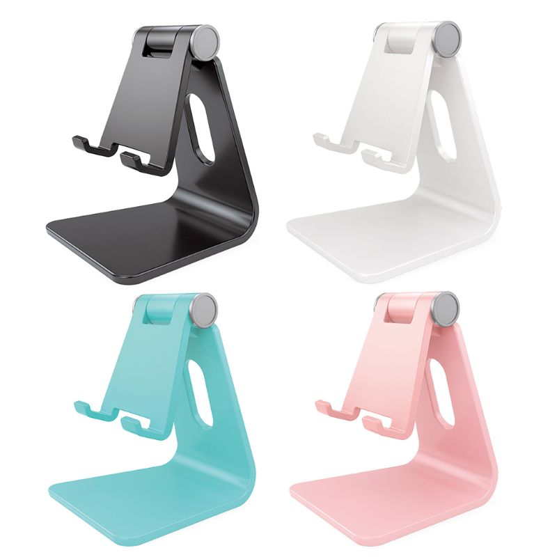 Universal Adjustable Mobile Phone Holder Plastic Non-slip Phone Stand Desktop Bracket Mount For IPhone Smart Cellphones