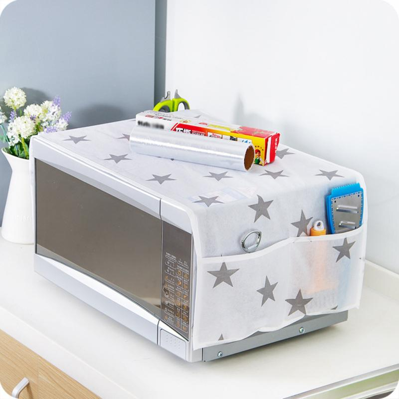 star pattern anti oil microwave dust proof cover with pockets