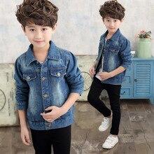 Children's Jacket Denim Boys Broken Hole Jean Jackets Kids Clothing 2019 New Jacket for Boy Baby Coat Casual Outerwear цены онлайн